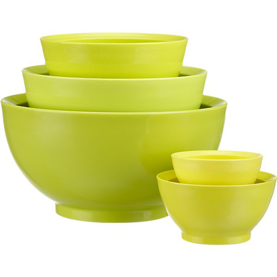 5 pc Calibowl Nonslip Nesting Mixing Bowl Set