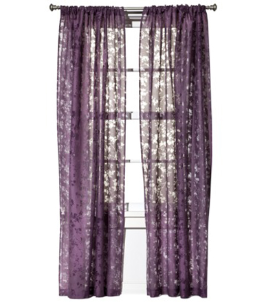 Botanical Burnout Window Sheer