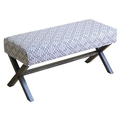 Gray Trellis X Bench
