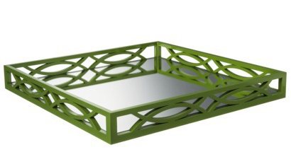 Green Mirrored Tray