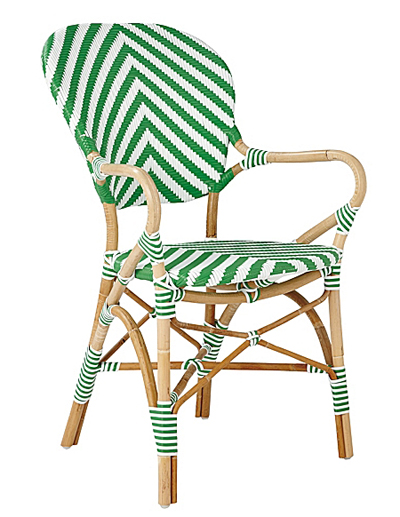 Kelly Green Chevron Riviera Armchair
