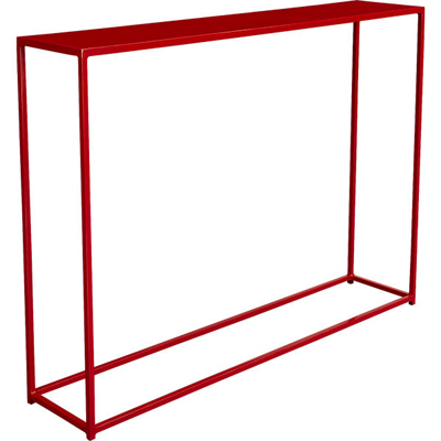 Mini Red Console Table