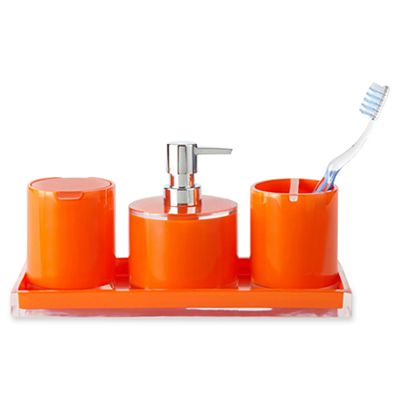 Orange 4-pc. Acrylic Bath Set