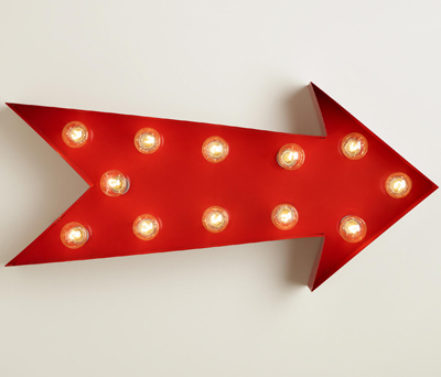 Red Arrow Marquee Light