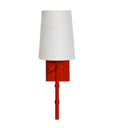 Red Bamboo Sconce