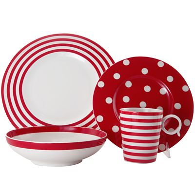 Red Vanilla Freshness Dinnerware Collection  sc 1 st  Decor by Color & Polka Dots | Decor by Color