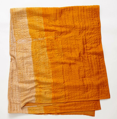 Silk Shibori Throw
