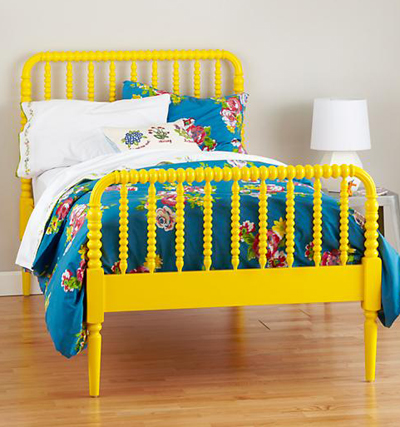Yellow Jenny Lind Bed