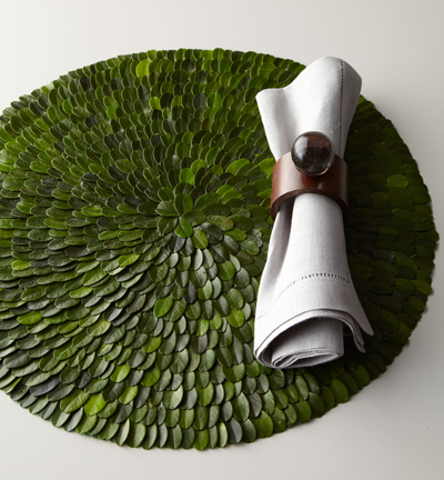 Six Boxwood Placemats
