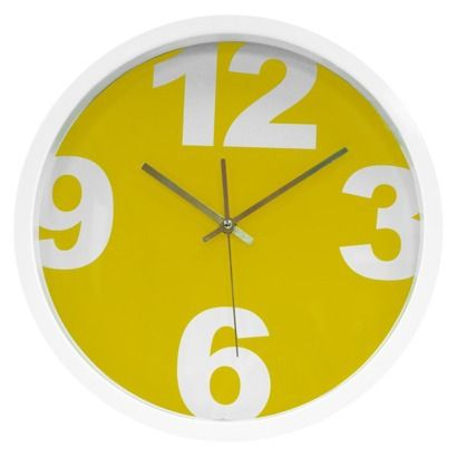 Contemporary Yellow Clock