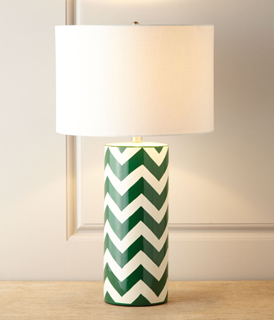 Green Chevron Lamp