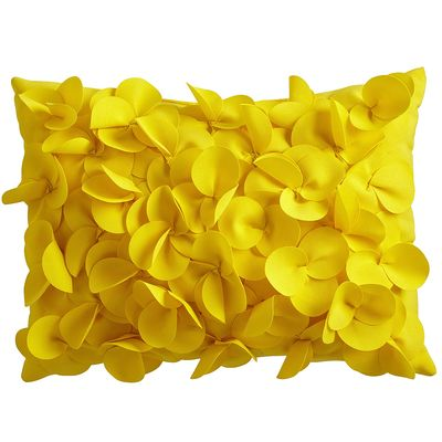 Lemon Petals Lumbar Pillow