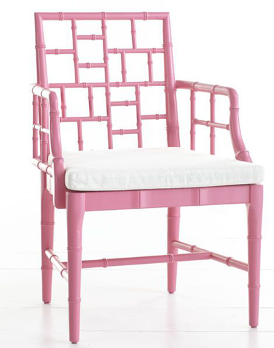 Pink Chinese Chippendale Chair