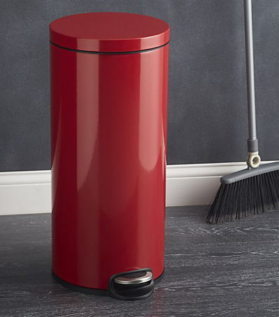 Round Red 8-Gallon Step Can