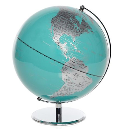 Aquamarine World Globe