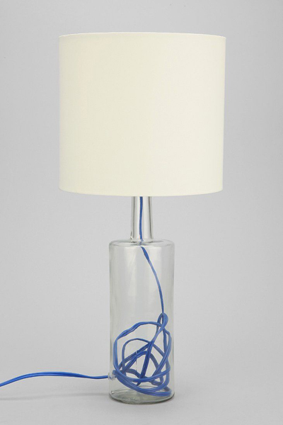 Blue Contrast Cord Lamp