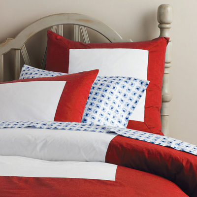 Red Color Frame Duvet Cover & Shams