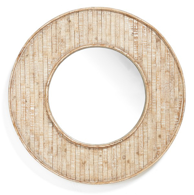 Three Hands Wood Framed Mirror