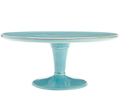 Turquoise Cambria Serve Cake Stand