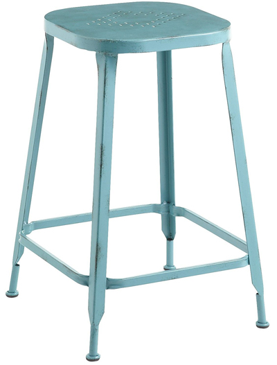 Weldon Teal Backless Counterstool