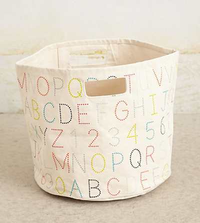 Alphabet Canvas Basket