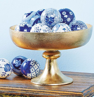 Blue & White Ceramic Balls