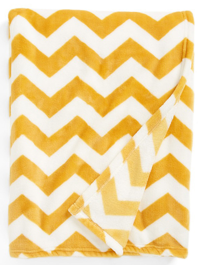Chevron Plush Throw