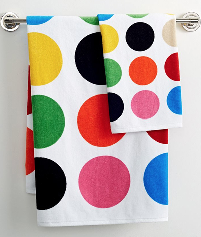 French Bull Multicolor Dot Towel Collection