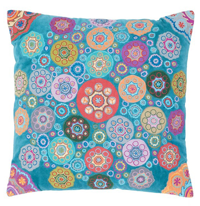 Geo Floral Accent Pillow