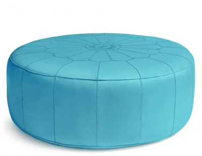 Giant Leather Moroccan Pouf