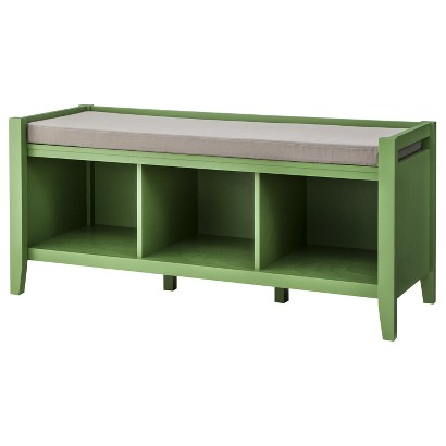 Green Open Storage Bench