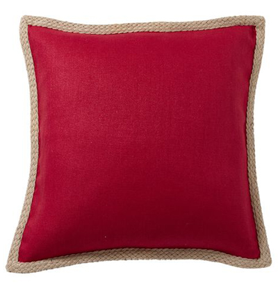 Jute Braid Pillow Cover