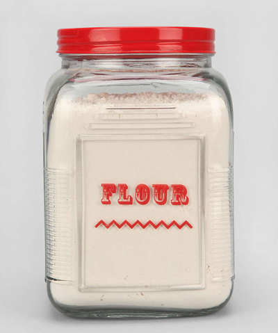 Labeled Flour Canister