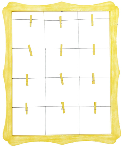 Yellow Scalloped Window Clip Frame