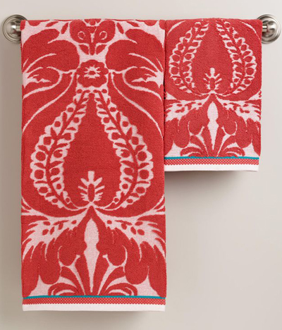 Coral Esme Sculpted Towels
