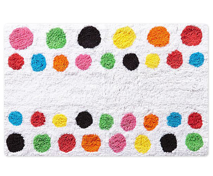 French Bull Multi Dot Bath Rug