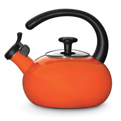 Rachael Ray Whistling Orange Teakettle