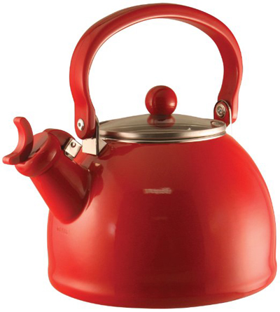 Red Whistling Teakettle
