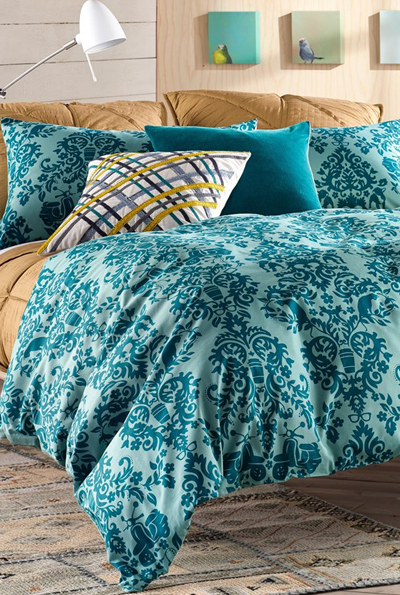 Urban Holiday Damask Print Duvet