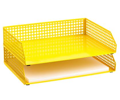 Yellow Edison Stacking Letter Tray