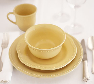 Yellow Emma Dinnerware