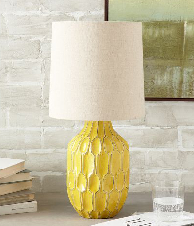 Yellow Linework Table Lamp