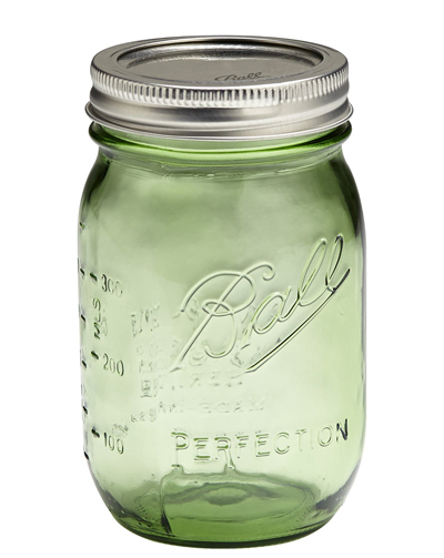 Ball Heritage Collection Green Pint Jars