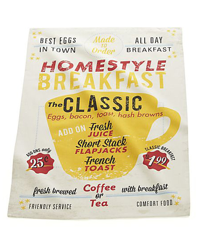 Breakfast Diner Dish Towel