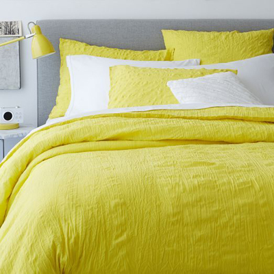 Crinkle Duvet Cover + Shams