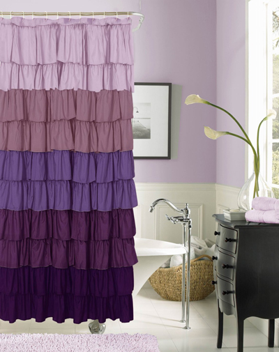 Flamenco Ruffled Shower Curtain