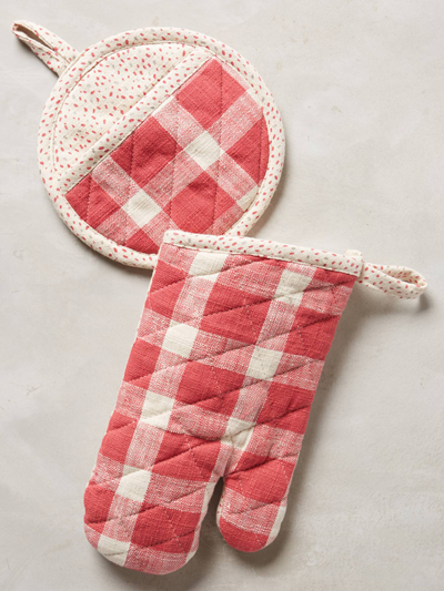 Red Plaid Potholders