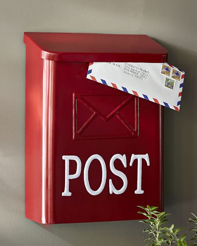 Red Post Mail Box