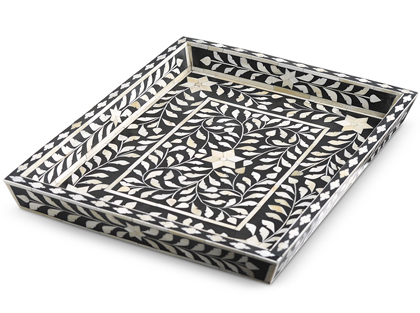 Black Bone Inlay Tray