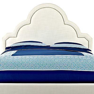 Happy Chic by Jonathan Adler Crescent Heights Linen Upholstered Headboard